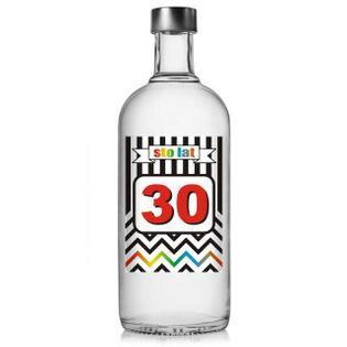 """Etykieta na butelkę """"Urodziny 30 Chevron"""", 85x120 mm, 5 szt"""