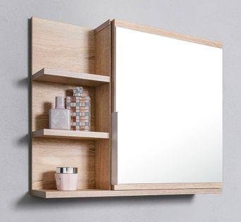 Szafka z lustrem do łazienki lewa, dąb sonoma