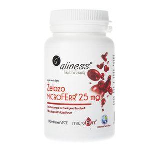 Aliness Żelazo organiczne MicroFerr® 25 mg - 100 tabletek