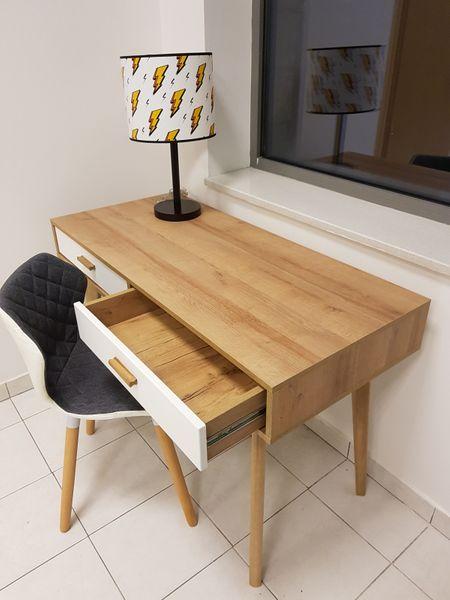 Skandynawskie biurko z szufladami Nordic zdjęcie 7