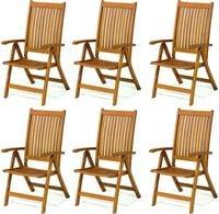 Zestaw krzeseł drewnianych ogrodowych krzesła składane Cardiff 6szt