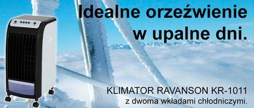 RAVANSON KR-2011 KLIMATOR KLIMATYZATOR PRZENOŚNY KLIMATYZACJA KLIMATYZER 4w1 + PILOT - NAJNOWSZY MODEL na 2018 Rok - EWIMAX OFICJALNY DYSTRYBUTOR - AUTORYZOWANY DEALER RAVANSON na Arena.pl