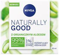 Nivea Naturally Good Rozświetlający Krem Na Dzień Z Organicznym Aloesem 50Ml