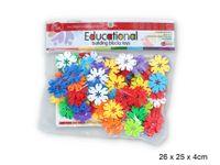 KLOCKI 3D Kwiatki - 80 EL kreatywna układanka dla dzieci NOWY ZESTAW