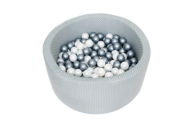 Basen z piłkami 90x40 okrągły + 200 piłek - zestaw- pawie pióra granat na Arena.pl