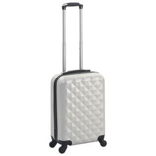 Twarda walizka jasny srebrny ABS VidaXL