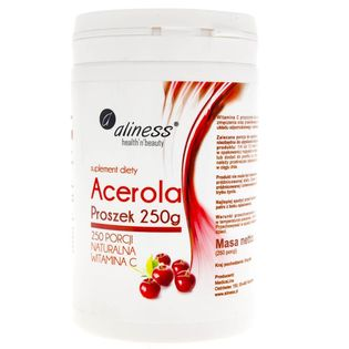 Aliness Acerola w proszku (Naturalna Witamina C) 250 g