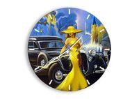 Zegar Ścienny - Retro Automobil  - 50X50 Cm - C3Ar50X50-3449