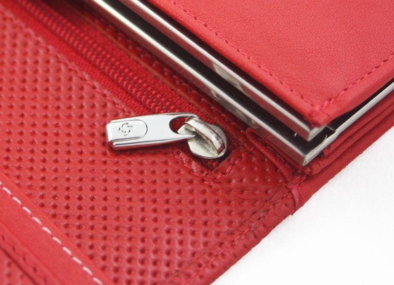 Długi, klasyczny portfel damski Samsonite, skórzany w kolorze czerwonym zdjęcie 8