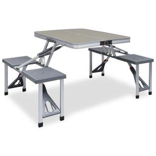 Lumarko Składany stolik turystyczny z 4 siedziskami, stal, aluminium
