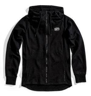 Bluza męska 100% STRATOSPHERE Hooded Zip Tech Fleece Black roz. L