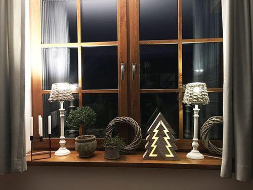 Ozdoba drewniana choinka Podświetlenie LED 1j 35cm choinka LED 1j na Arena.pl