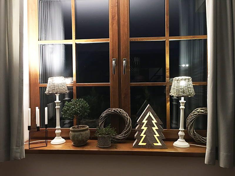 Ozdoba drewniana choinka LED 1j 35cm zdjęcie 2