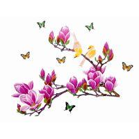 Naklejki na ścianę ścienne Gałąź, Ptaki Magnolia WS-0006