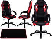 Fotel obrotowy gamingowy KUBEŁKOWY dla gracza FLAME+ PRO-GAMER