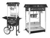 Maszyna do popcornu - wózek - czarna Royal Catering RCPW.16.2