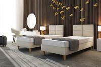 Łóżko hotelowe PANELOWE 90/200  zagłowie + materac