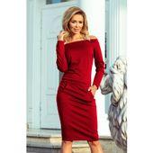 f205fbf78d RAYA Sukienka z odkrytymi ramionami - kolor BORDOWY S
