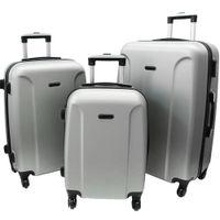 Zestaw 3 walizek PELLUCCI RGL 790 Srebrne