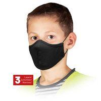 Maseczki, Maseczka dla dzieci czarna MAS-SAFER-KIDS B 62348