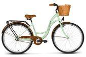 Rower 26 VELLBERG Damski 3-biegi pistacja + KOSZYK WIKLINOWY