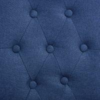 VidaXL Krzesła stołowe, 2 szt., niebieskie, tapicerowane tkaniną