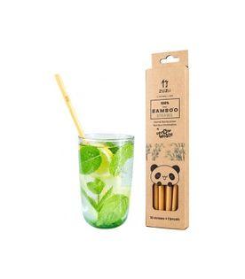 Wielorazowe bambusowe słomki do picia 10 szt. + czyścik Zuzii