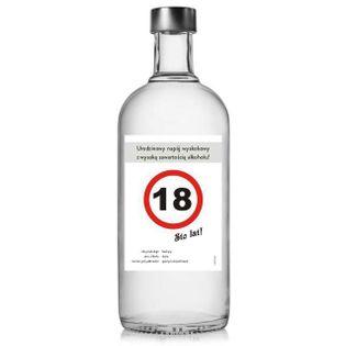 """Etykieta na butelkę """"Urodziny 18 znak"""", 85x120 mm, 5 szt"""