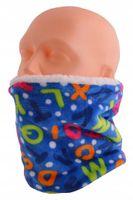 Komin polarowy dziecięcy - szalik czapka chusta