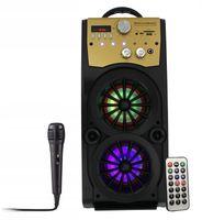GŁOŚNIK 60W MINIWIEŻA BOOMBOX LED BLUETOOTH + Mikrofon RX-S50 G208ZG