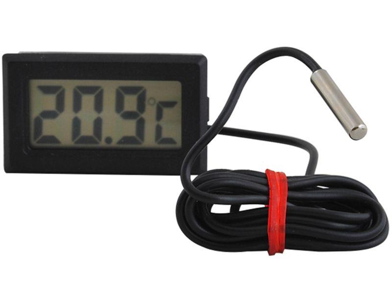 Termometr Elektroniczny LCD z Sondą do Pieca CO 488 zdjęcie 1