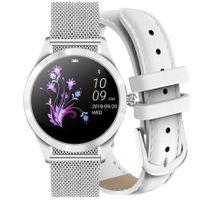 Zegarek GINO ROSSI  SMARTWATCH BF1- srebrny + biały pasek