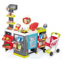 Smoby - Supermarket Maxi z kasą, wagą, lodówką, wózkiem i akcesoriami 350215