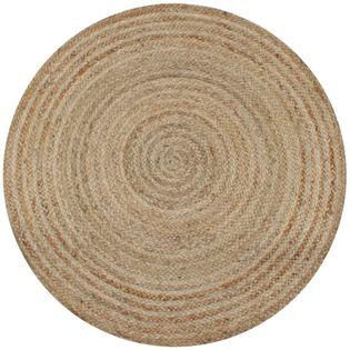 Dywan Pleciony Z Juty, 150 Cm, Okrągły