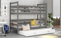 Łóżko piętrowe JACEK 3 COLOR  190x80  szuflada + materace
