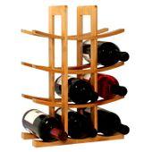 Stojak na Wino Regał na Alkohole bambusowy
