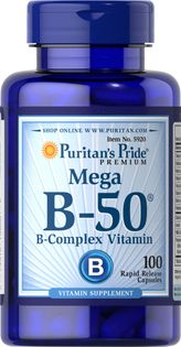 Witamina Mega B-50 complex B50 100 kapsułek Puritan's Pride