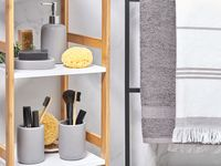 Zestaw akcesoriów łazienkowych szary