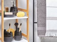 Zestaw akcesoriów łazienkowych czarny