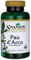 Kora wewnętrzna 500mg Pau d'Arco 100 kapsułek SWANSON