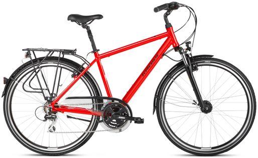 """Kross Trans 3.0 28 L 21"""" rower czerwony/czarny połysk 12"""