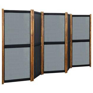 Parawan 5-panelowy czarny 350x170cm VidaXL