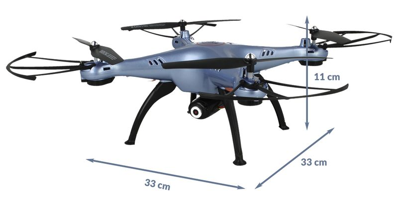 Dron Syma X5HW kamera Wi-Fi funkcja zawisu Niebieski Y142N zdjęcie 5