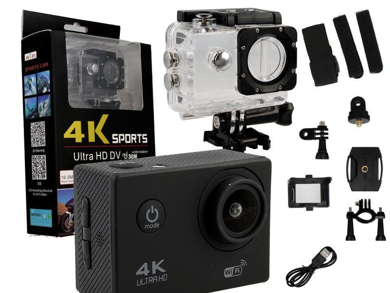 Kamera sportowa 4K Ultra HD wi-fi wodoszczelna do 30 metrów T273 zdjęcie 12