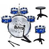 Mega duża perkusja dla dzieci 6 bębnów talerz krzesło pałeczki Y215