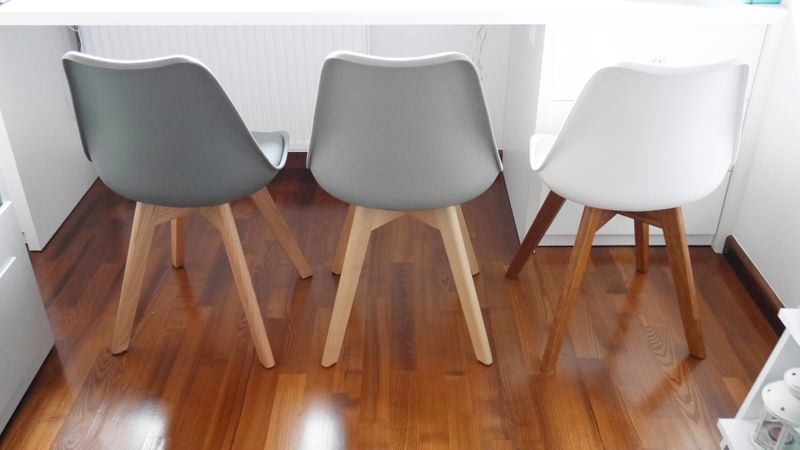 Nowoczesne krzesło KRIS FIORD CIEMNOSZARE/BUK skandynawskie DSW zdjęcie 5
