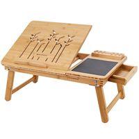 Stolik pod laptopa bambusowy 55X35X23CM