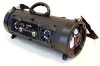 GŁOŚNIK CYLINDRYCZNY  BOOMBOX BLUETOOTH PRZENOŚNY MP3 RADIO