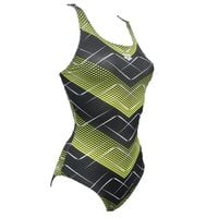 ARENA STRÓJ KOSTIUM ROSKILDE SWIM BACK ONE PIECE BLACK SOFT GREEN R40