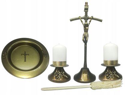 CUDOWNY Komplet kolędowy Papieski stare złoto Zestaw